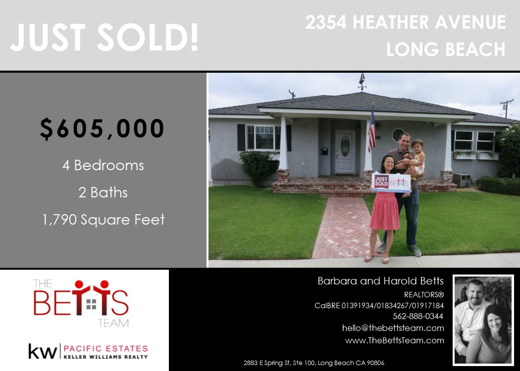 JUST SOLD!!! 2354 Heather Ave, Long Beach
