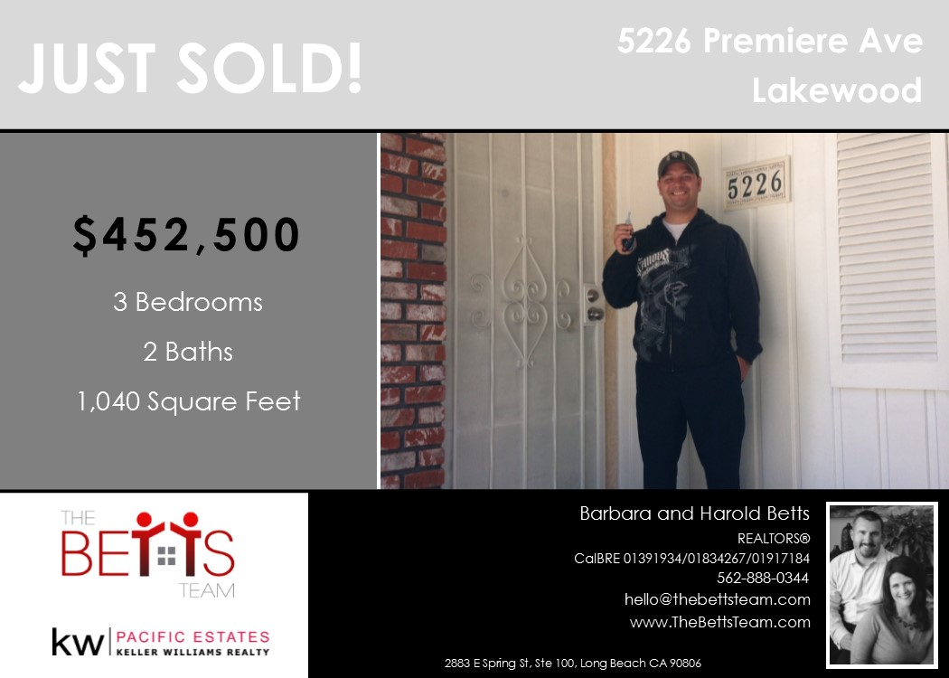 JUST SOLD!!! 5226 Premiere Ave, Lakewood