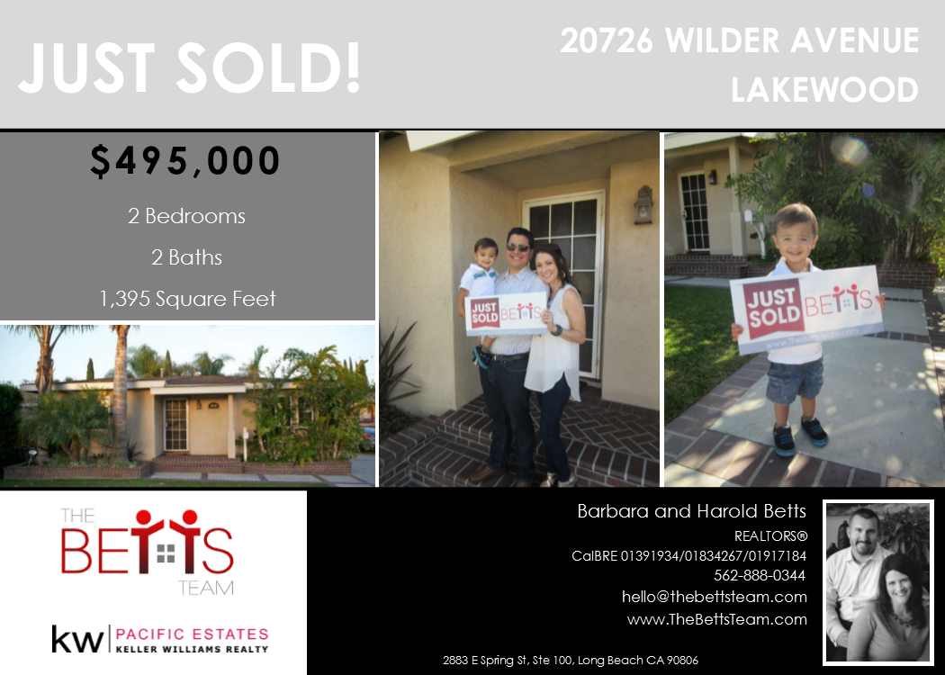 JUST SOLD!!! 20726 Wilder Ave, Lakewood