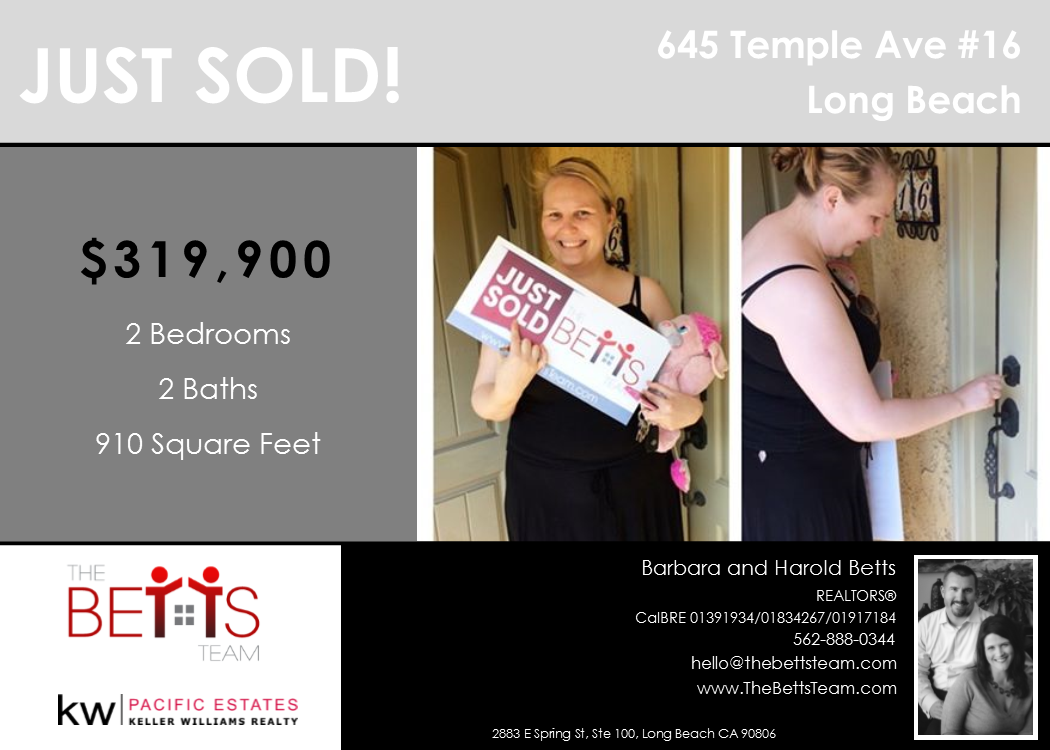 JUST SOLD!!! 645 Temple Ave #16, Long Beach