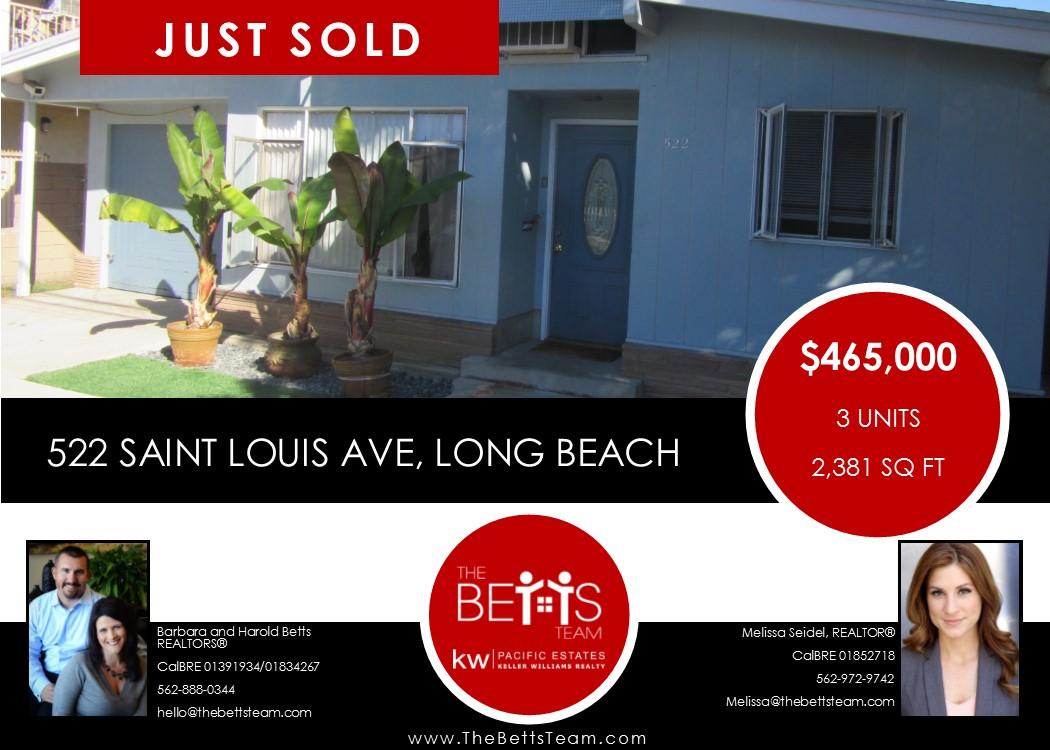 JUST SOLD!!! 522 Saint Louis Avenue, Long Beach