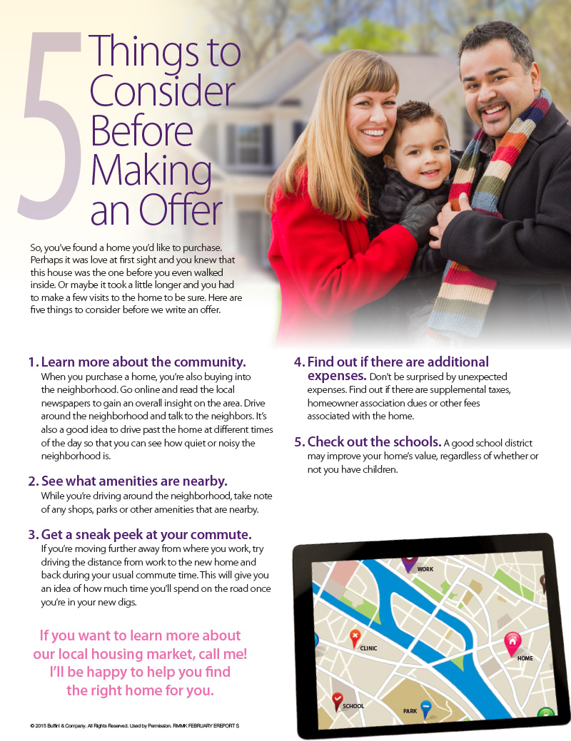 5 Things to Consider Before Making an Offer