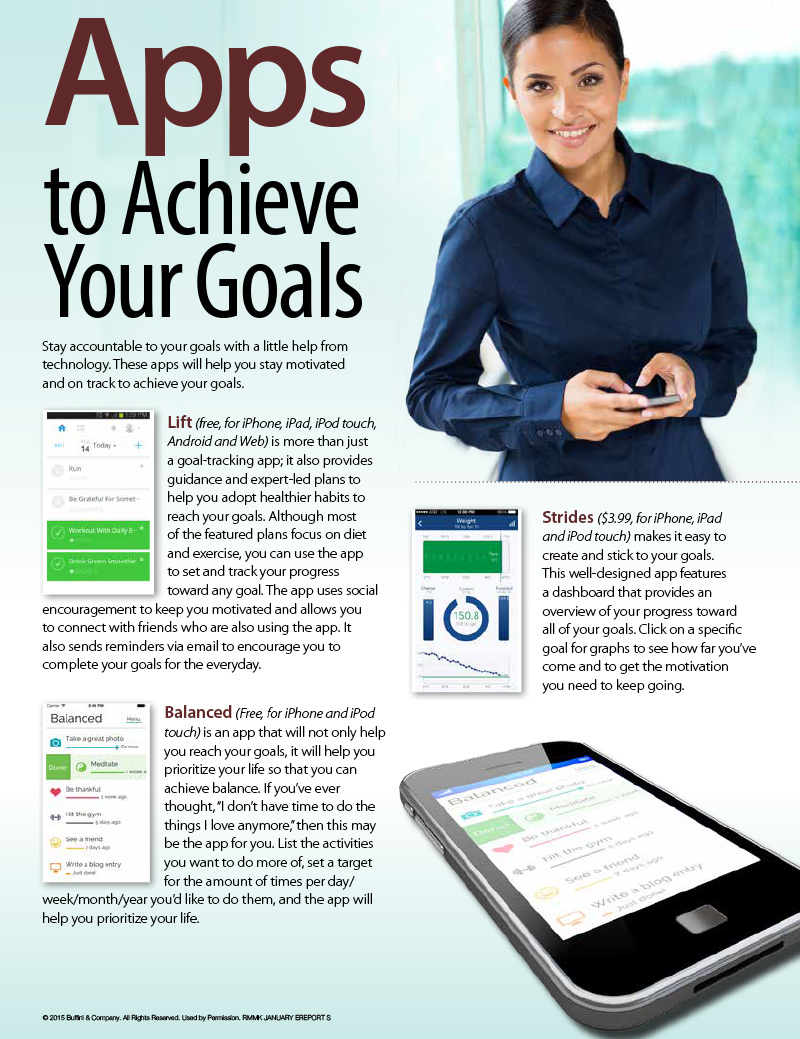 Apps to Achieve Your Goals