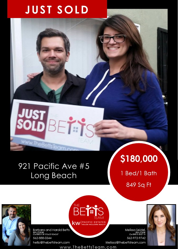 JUST SOLD!!!  921 Pacific Avenue #5, Long Beach