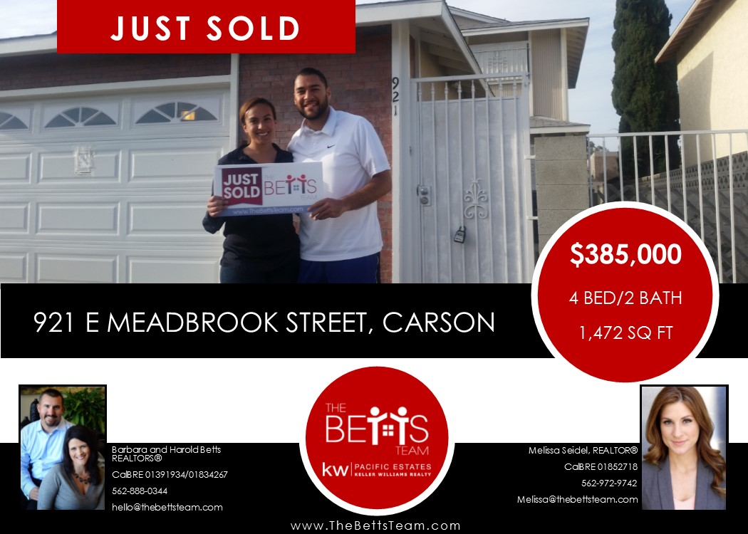 JUST SOLD!!! 921 E Meadbrook St Carson