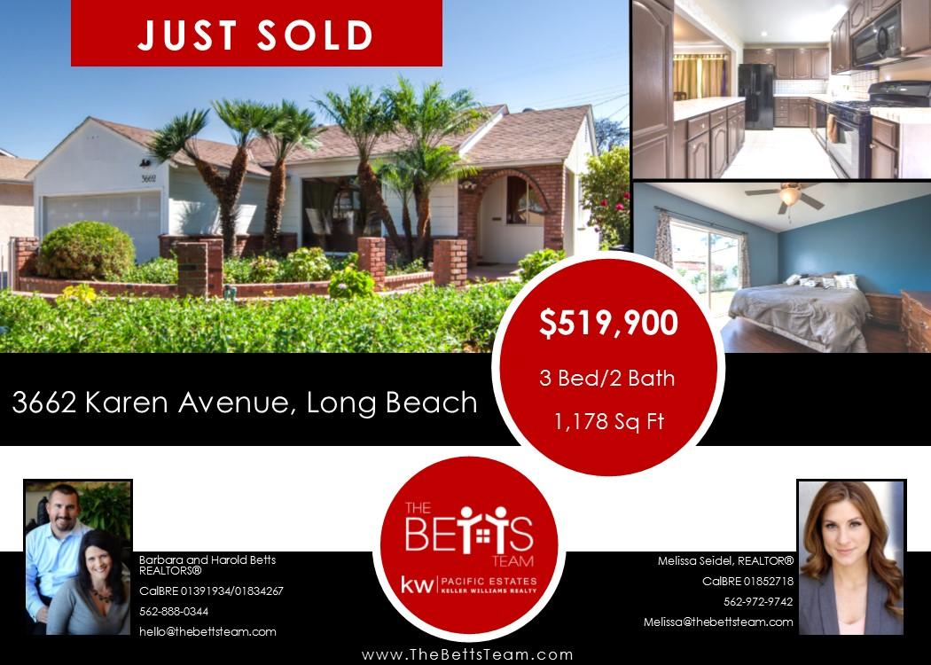 JUST SOLD!!!  3662 Karen Avenue, Long Beach
