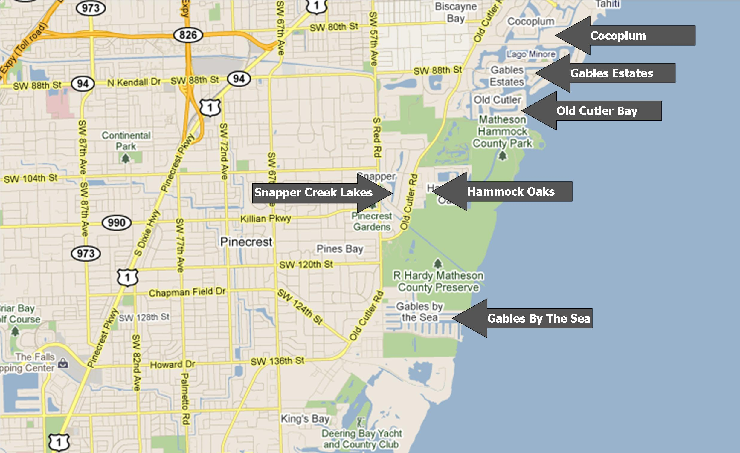 Coral Gables House Hunt Miami - Kendall florida map