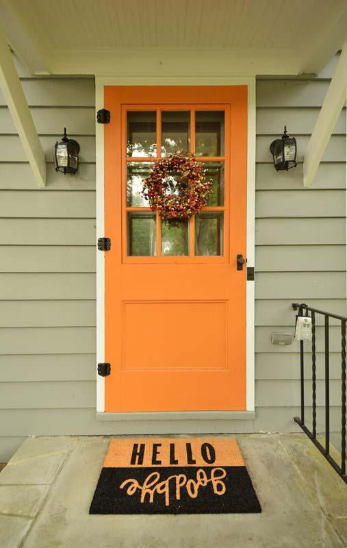 Front Door Painted Post