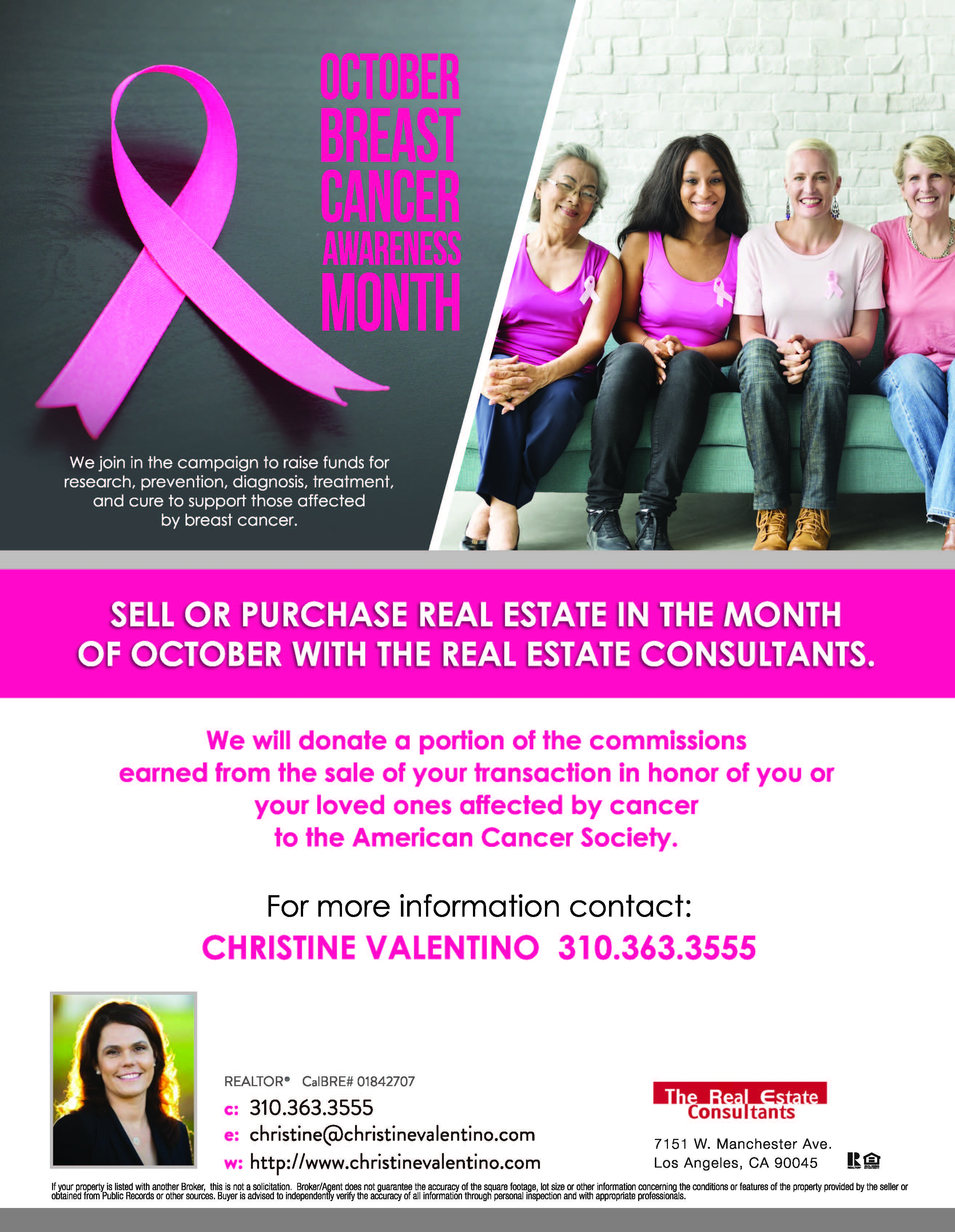 cancer advertising flyer
