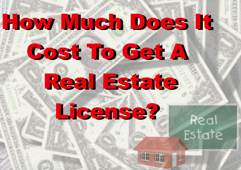 How much does a real estate license cost