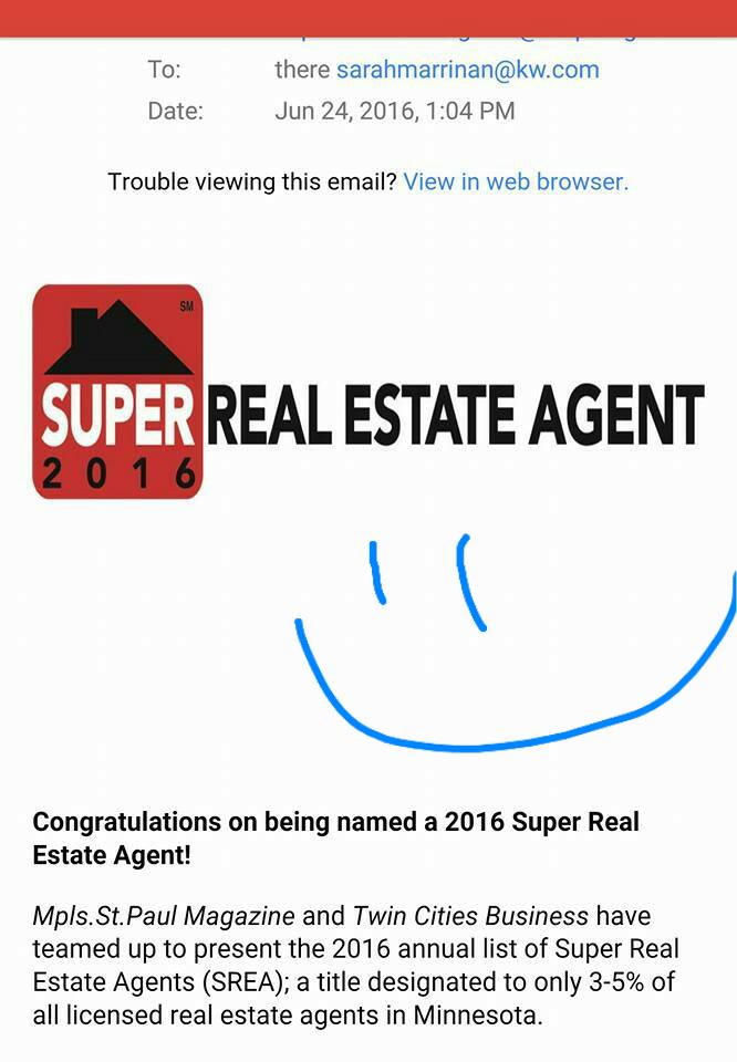 Sarah Marrinan - Super Real Estate Agent (SREA) 2016
