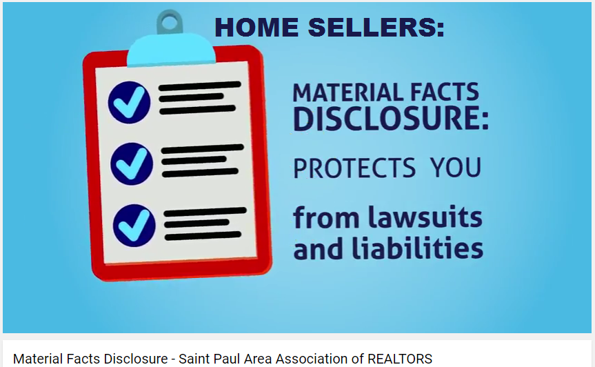 Material Fact Disclosures protect home sellers from lawsuits and liabilities