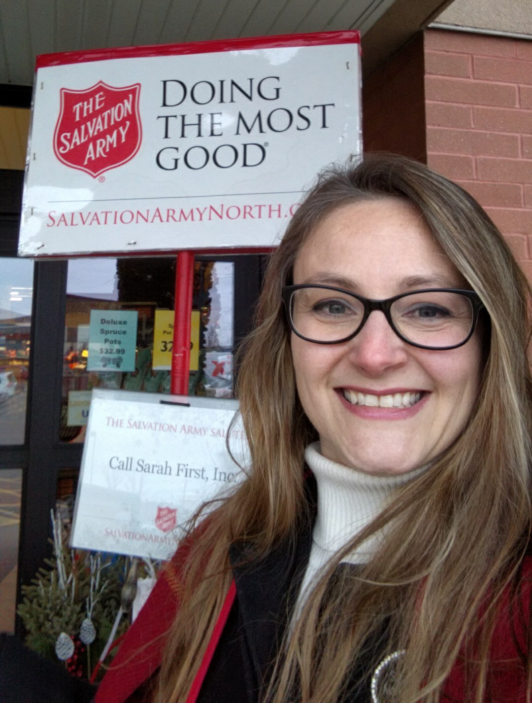 Sarah Marrinan Charity Bell Ringing Salvation Army 2016