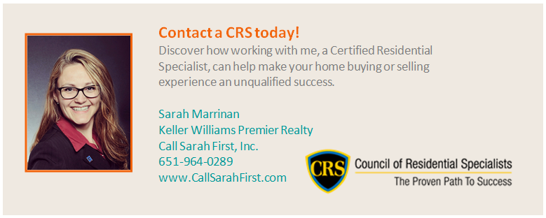 Contact a CRS real estate agent today - Sarah Marrinan