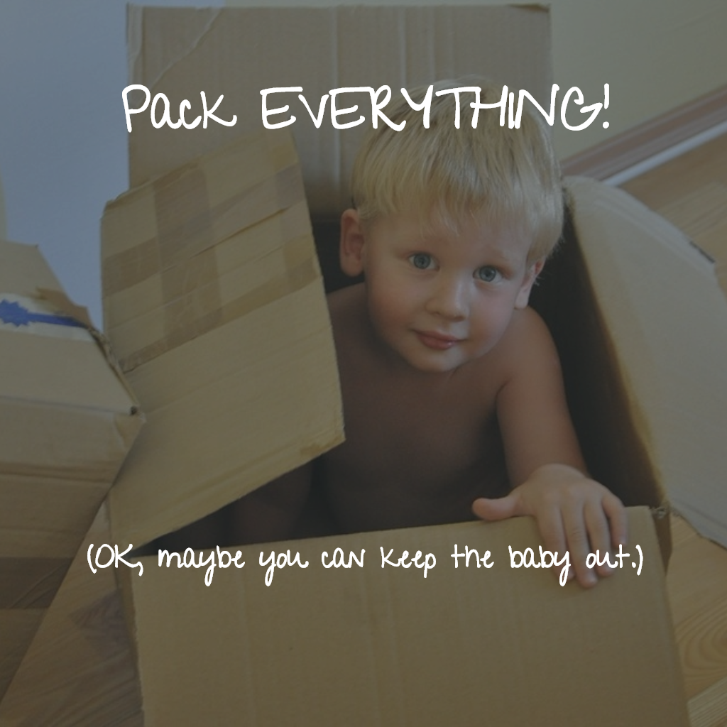 Baby in a box - don't pack the baby yet!
