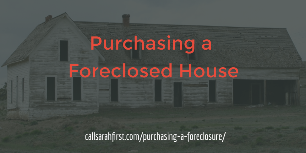 Purchasing a Foreclosed Home in MN