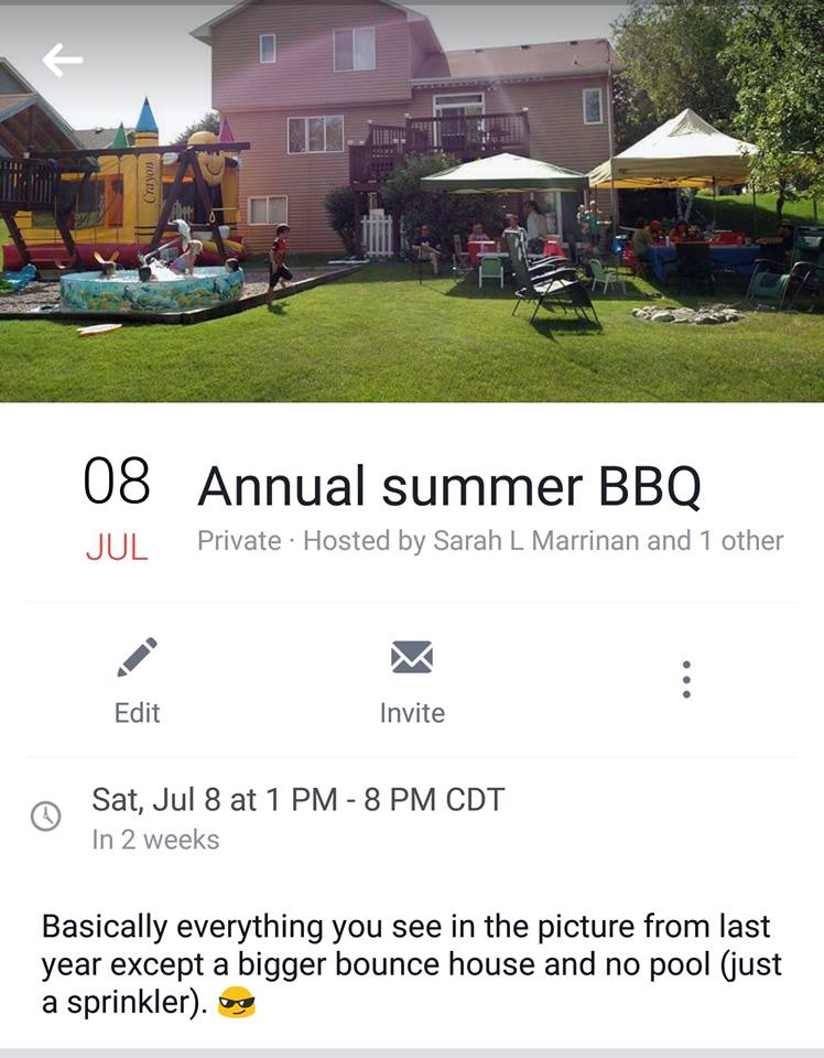 Sarah's Annual Summer Party