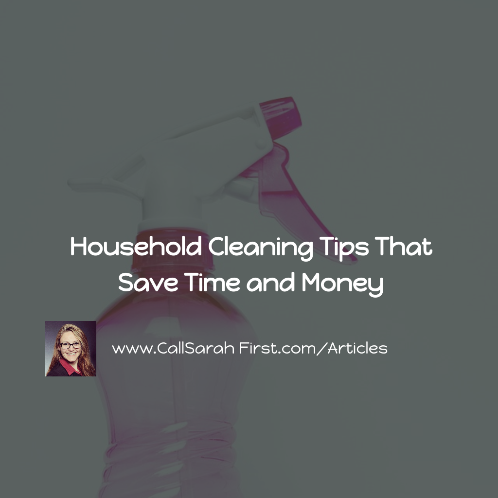 Household Cleaning Tips That Save Time and Money