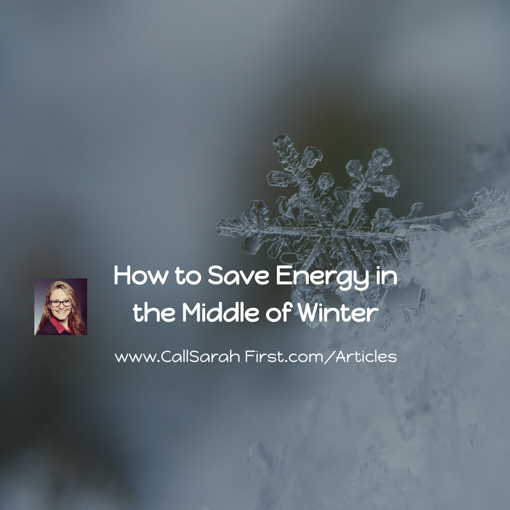 How to Save Energy in the Middle of Winter