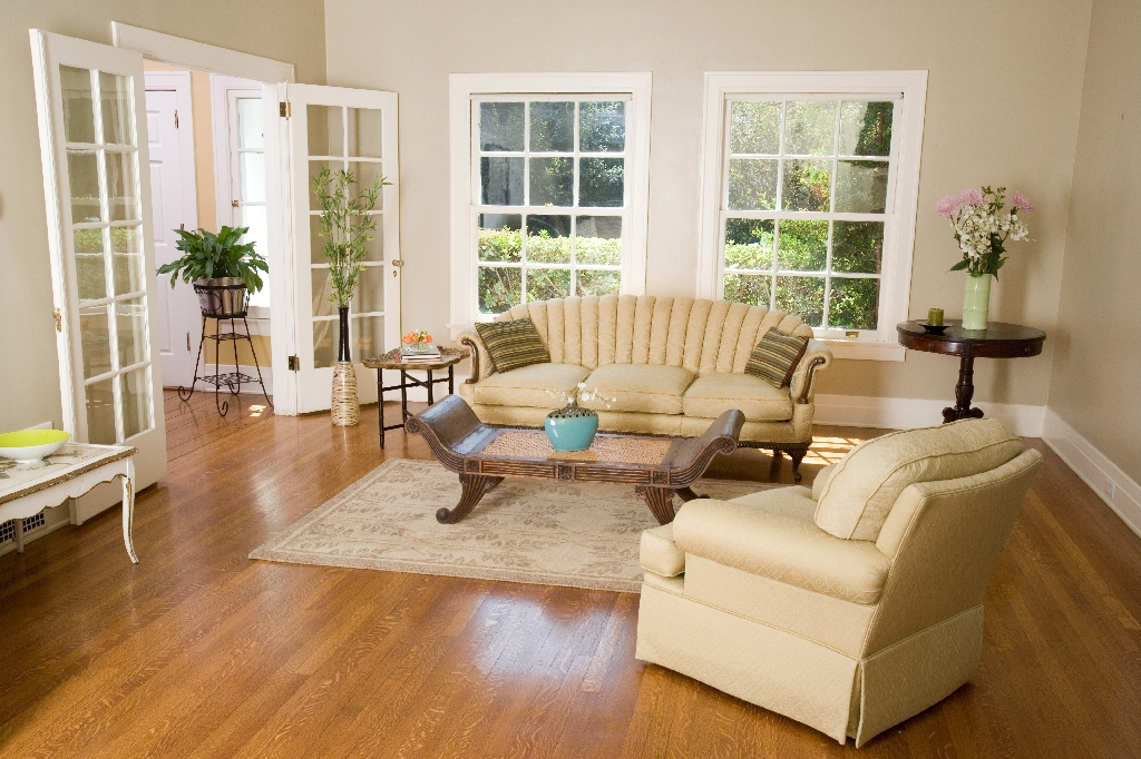 Preparing Your Home to Sell - Staged living room.