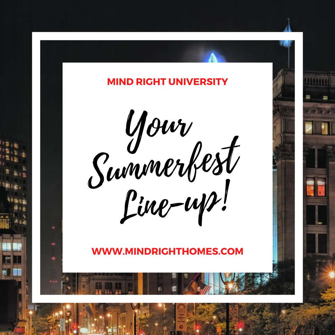 Your Summerfest Line-up!