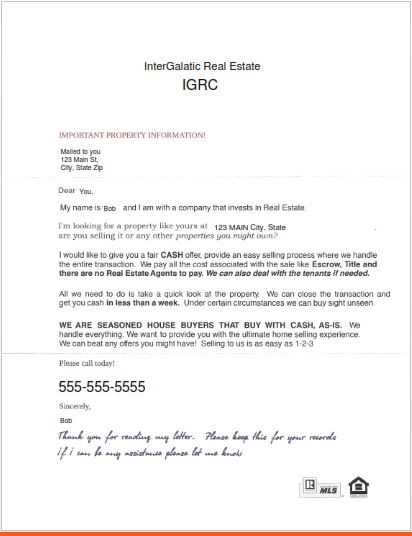 Got A  Letter Like This in Phoenix Scottsdale?