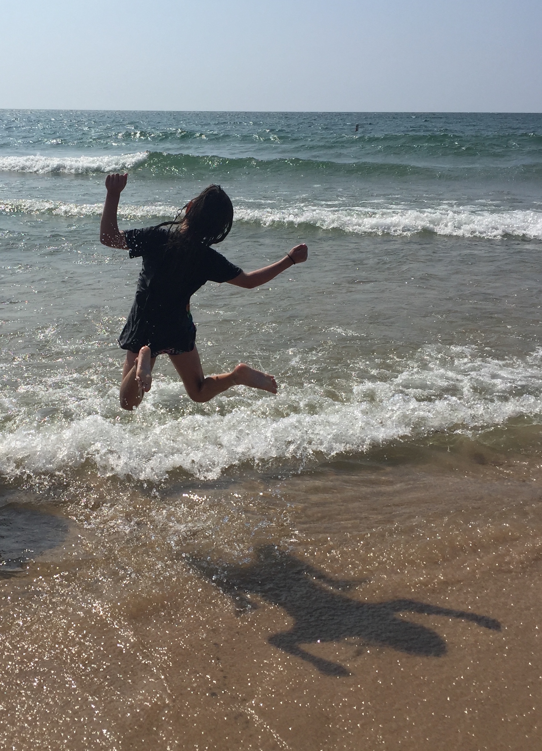 My daughter, squeezing everything out of life this summer
