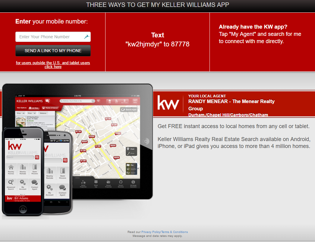 The Menear Realty Group mobile search app to view homes anywhere in the USA
