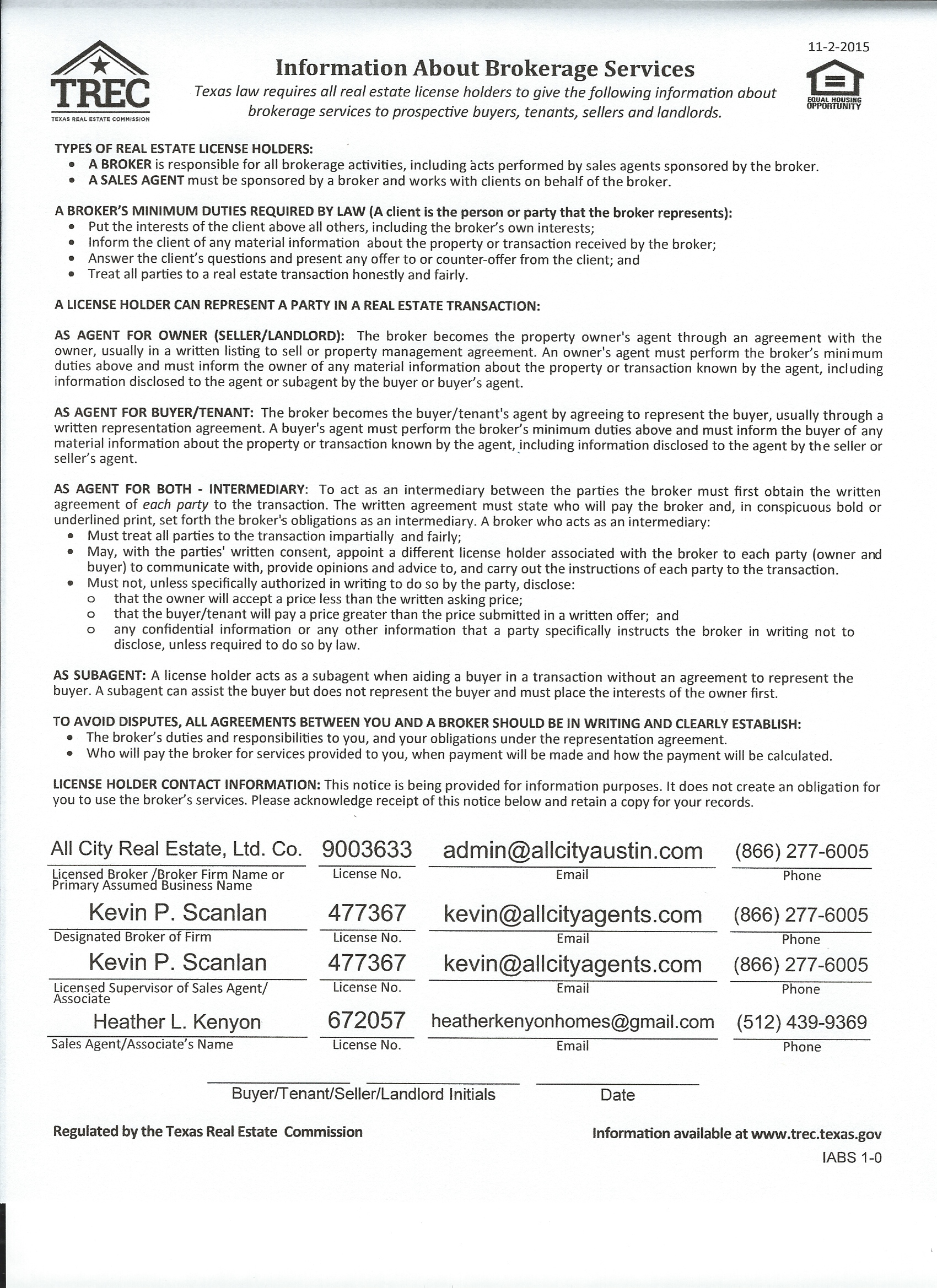 Texas real estate commission information about brokerage services texas real estate commission information about brokerage services platinumwayz