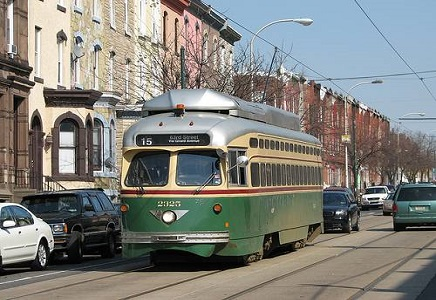 Brewerytown Philadelphia Neighborhood Trolley Car