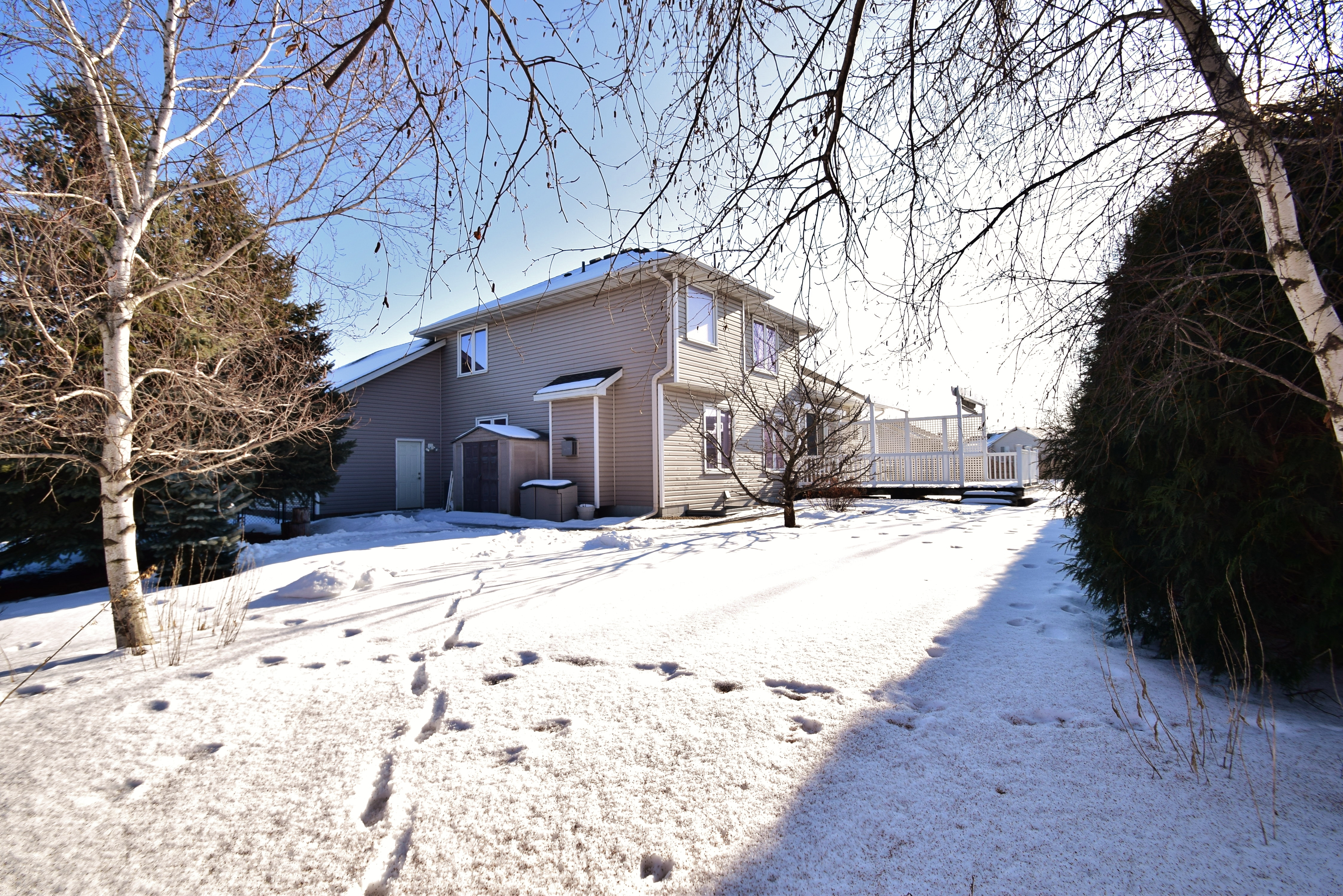Private backyard in Andover home for sale
