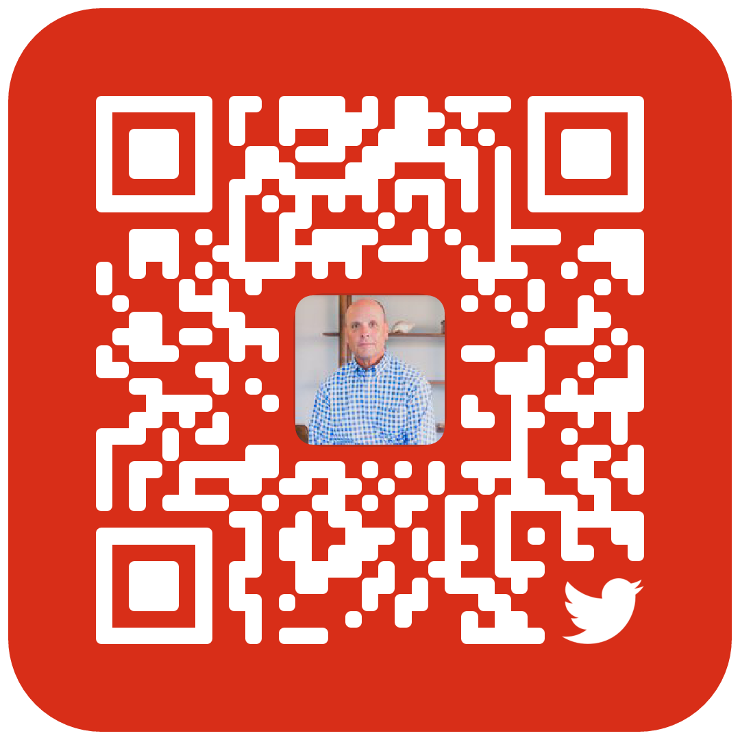 Twitter QR code to follow Phil Sveum
