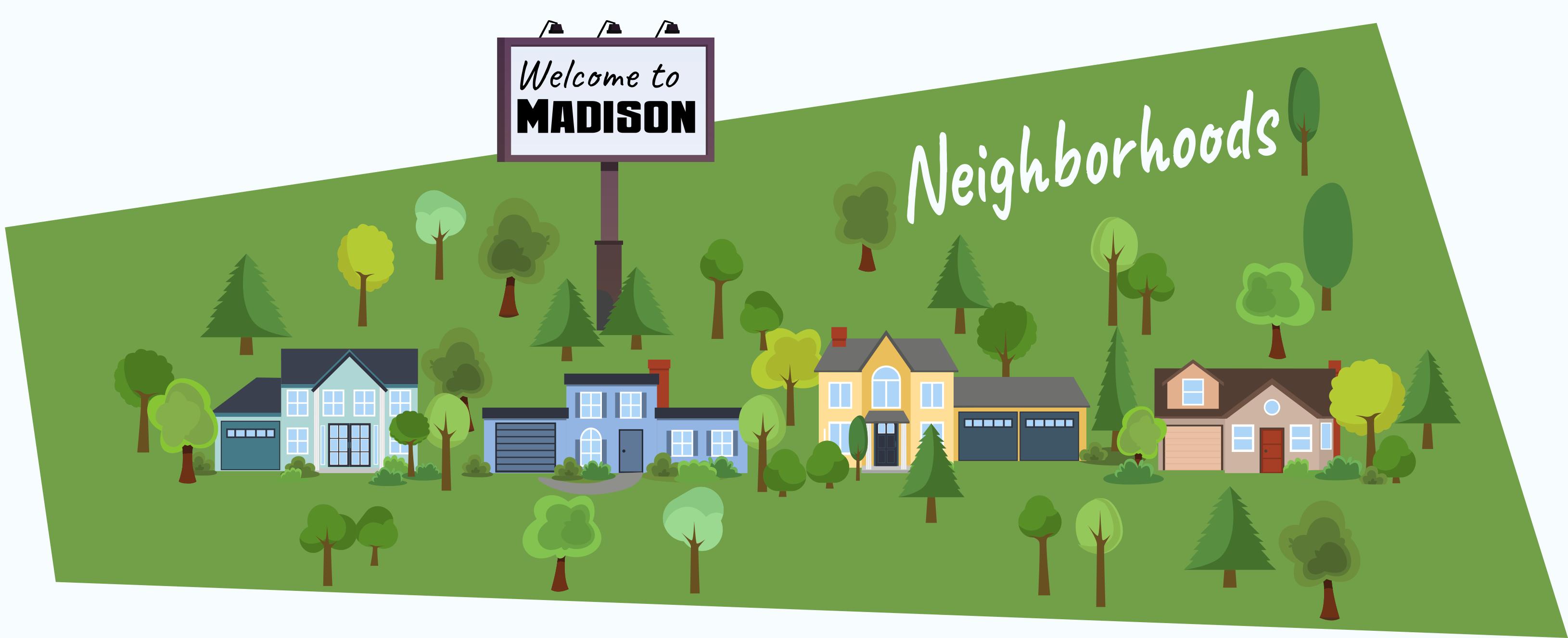 The neighobrhoods of Madison, WI