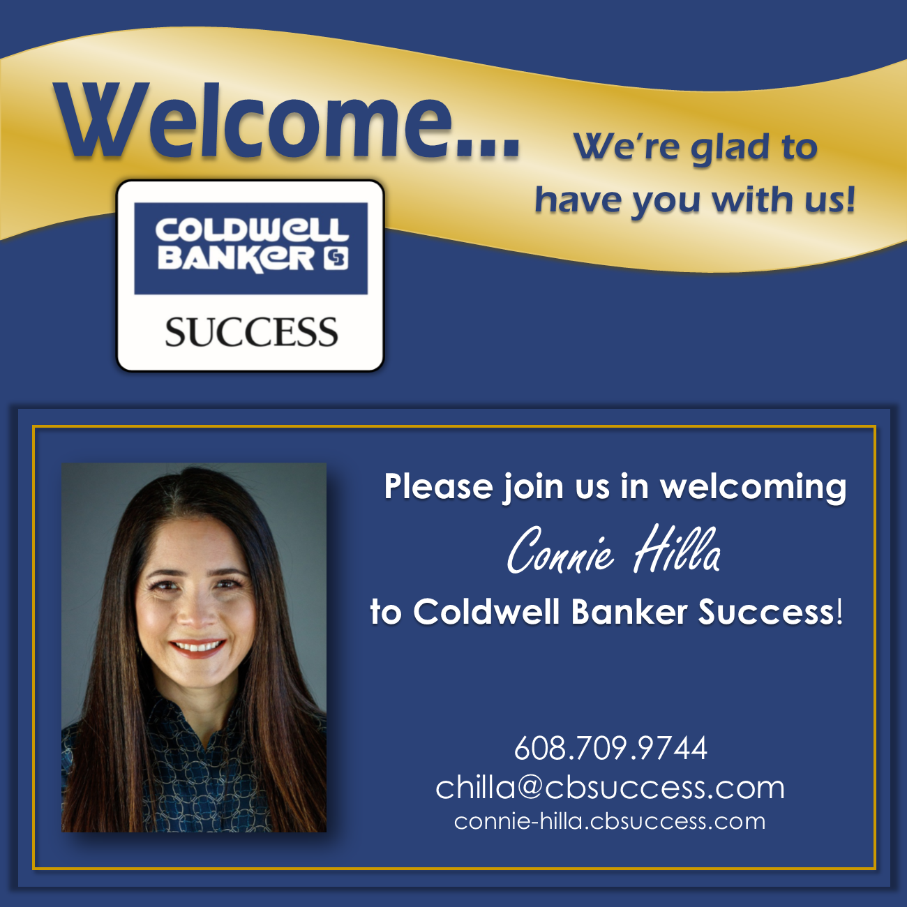 Welcome Connie Hilla!