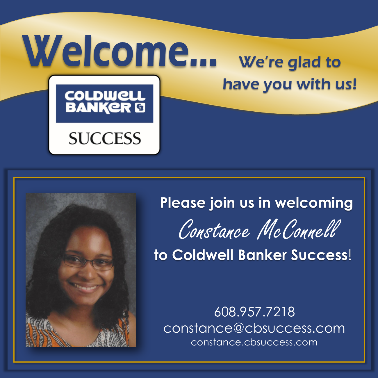 Welcome Constance McConnell!