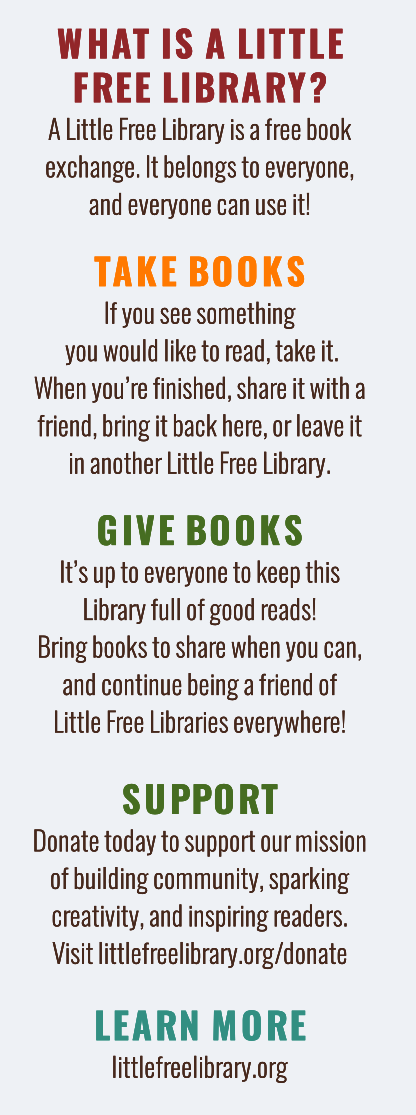 What is a Little Free Library Bookmark