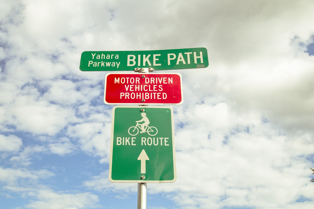 Yahara Parkway Bike Path sign