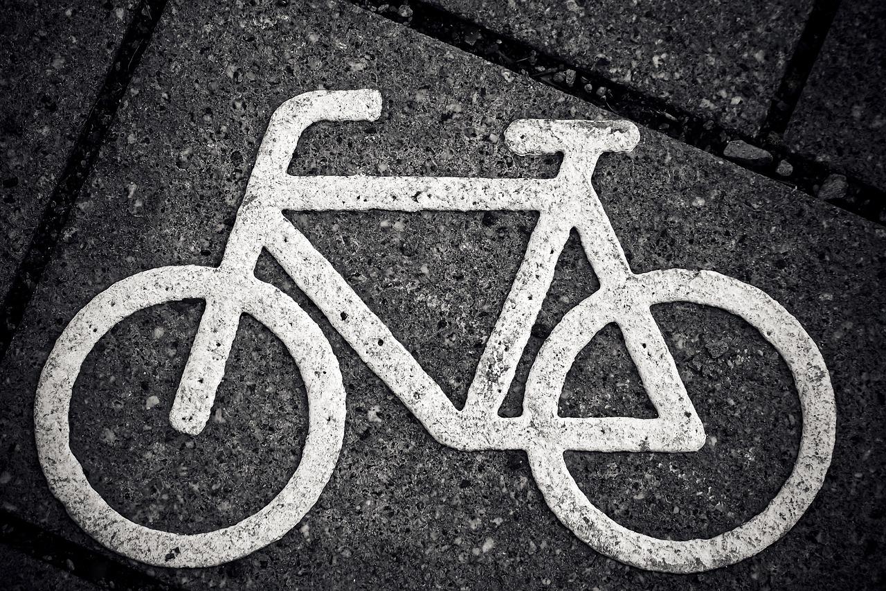 bike lane indicator on pavement