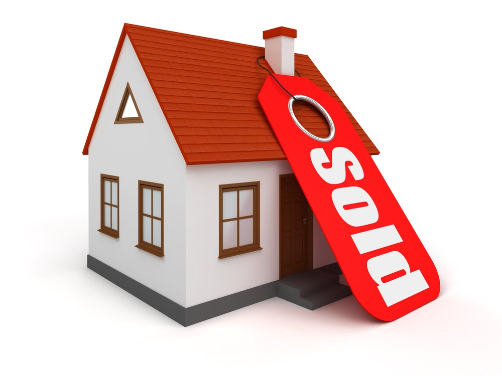 Sold Tag on House