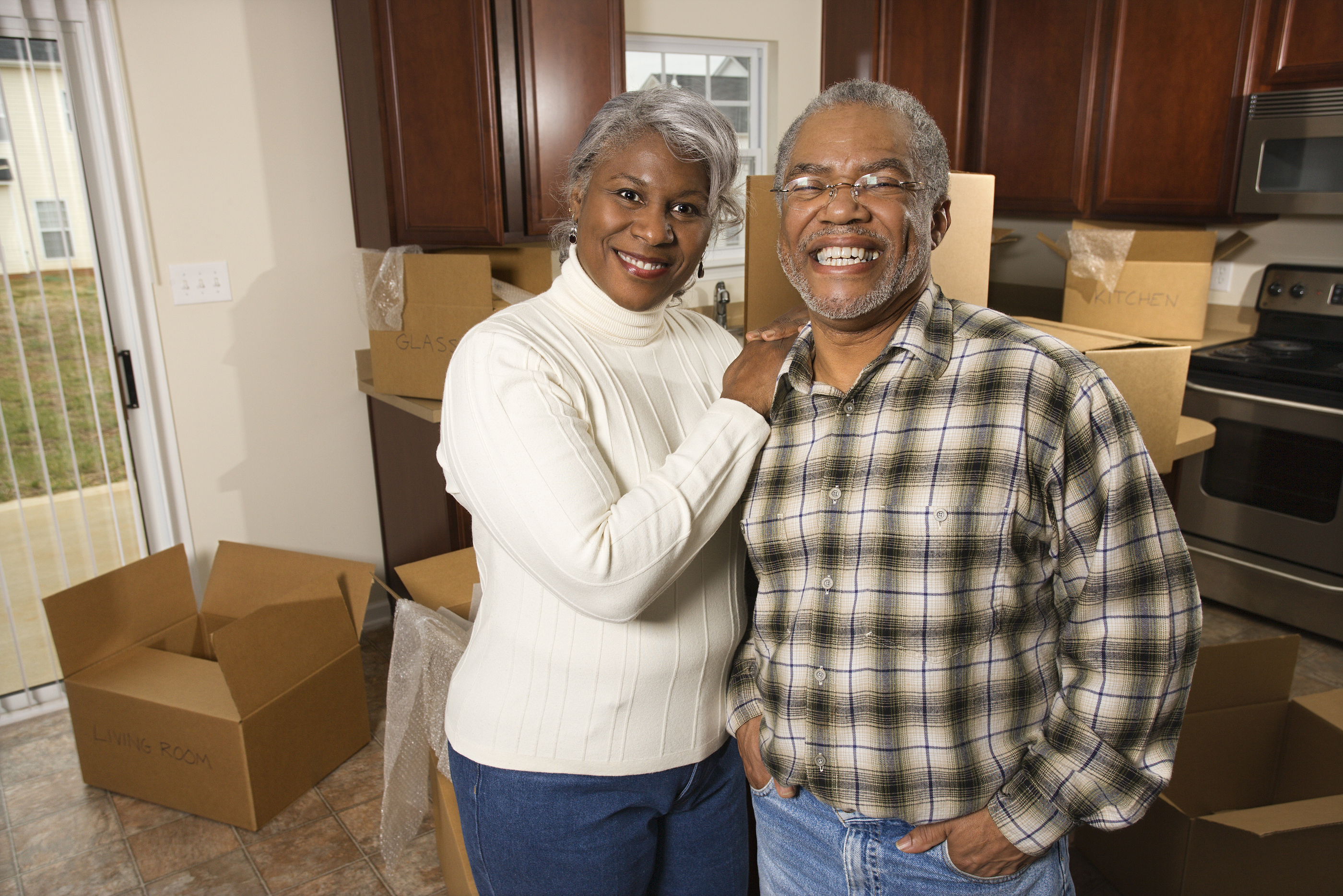 Senior Couple Moving into New Home