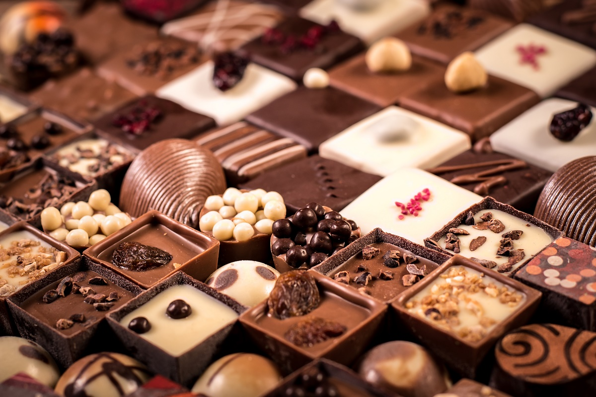 assorted chocolate pieces