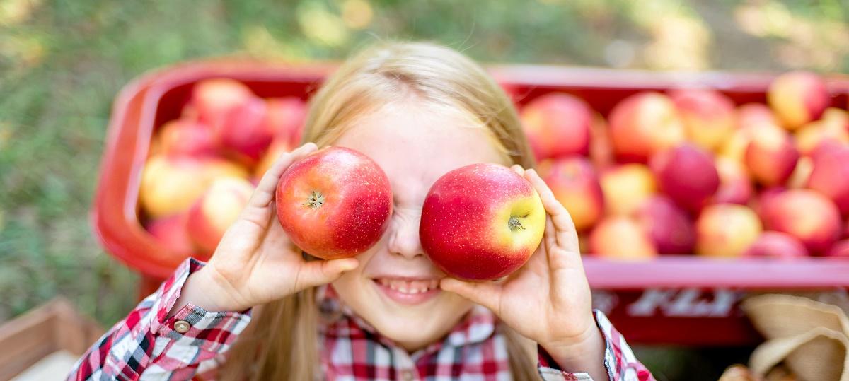 Girl Holding Apples