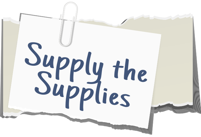 supply the supplies note