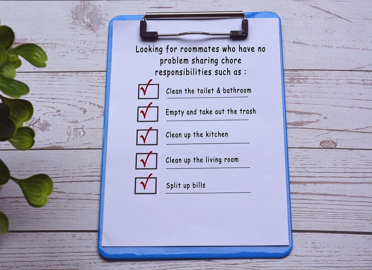 roommate checklist