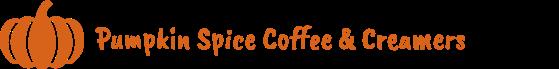 pumpkin spice coffee creamers banner