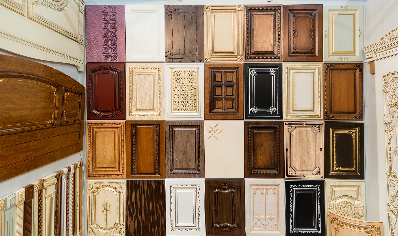 assortment of cabinet doors