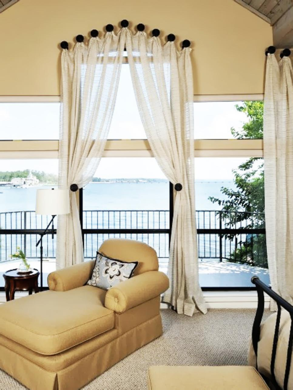 Most window treatments are hung by way of rod or track allowing them to  easily open and close to conDvorscak trol lighting and privacy. Dreamy Bedroom Window Treatment Ideas