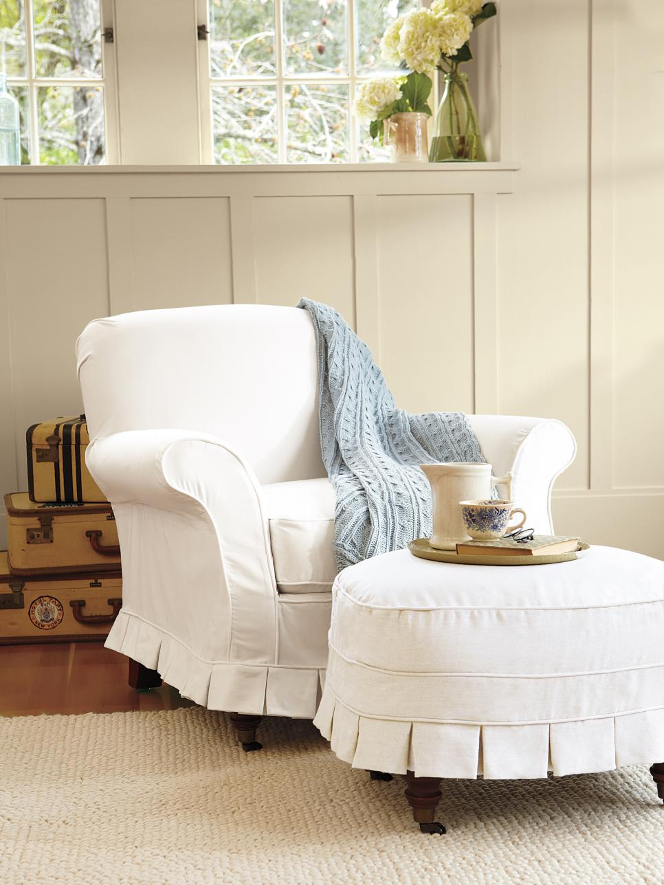 Slipcovers for Chairs, Ottomans and More