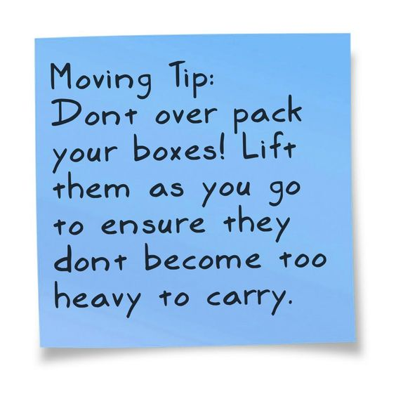 Don't Over Pack