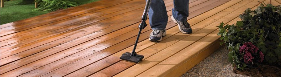 Staining a deck will prevent further damage